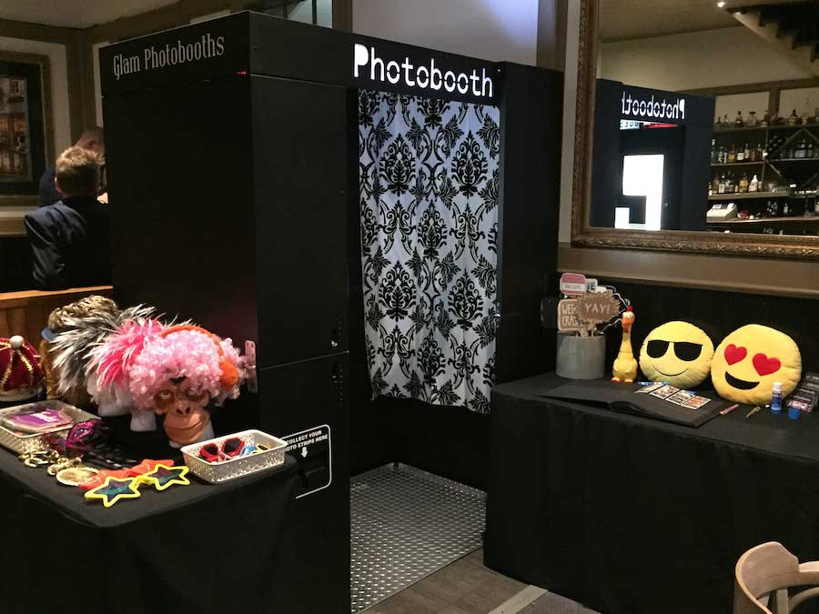 Glam Photobooths - Classic Photo Booth with no curtain