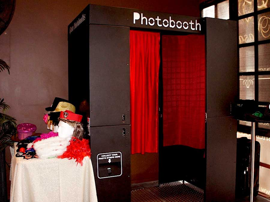 Glam Photobooths - Classic Photo Booth with red curtain