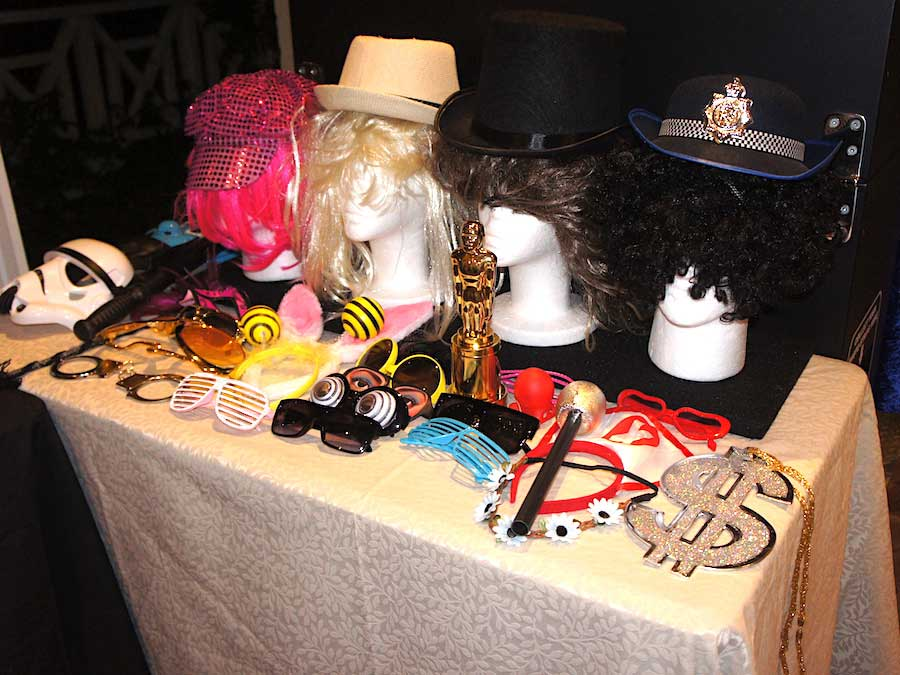 Glam Photobooths - Props Table
