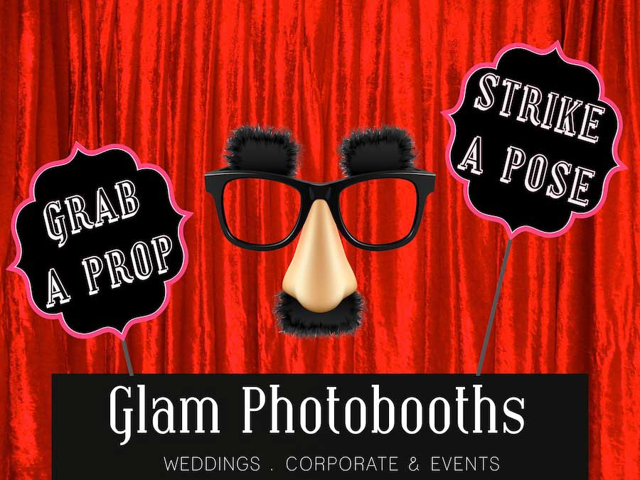 Glam Photobooths Classic Photo Booth Backdrop - Red Velvet