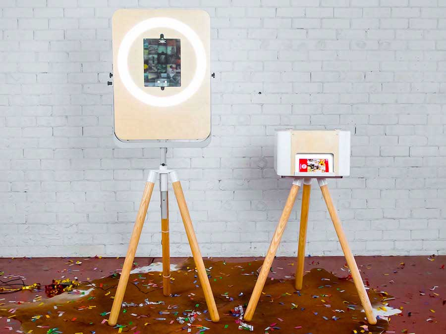 Selfie Station Open-Air Photo Booth with Printer setup