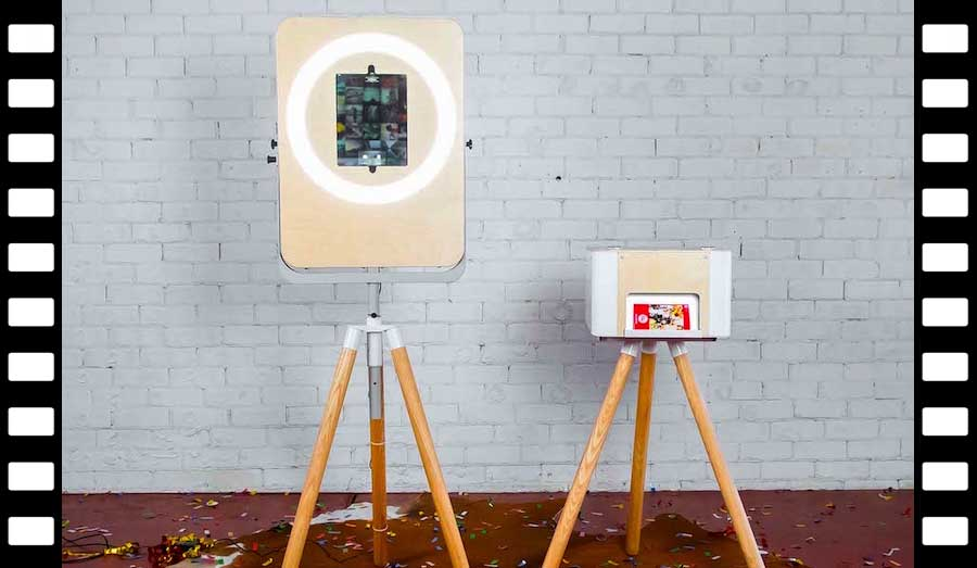 Glam Photobooths Selfie Station Open-Air Photo Booth with Printer