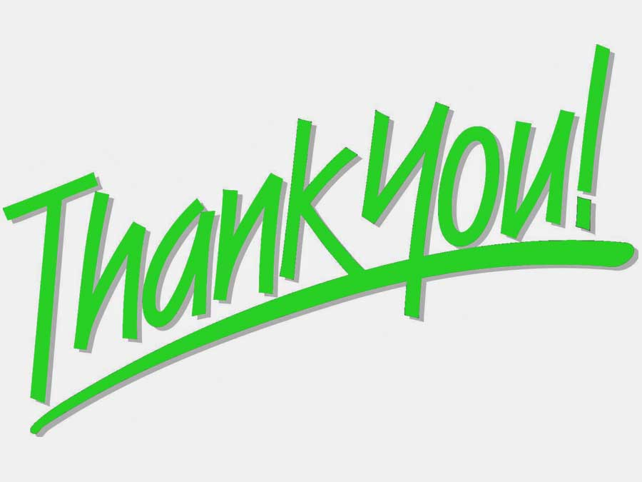 The words Thank You written in green marker